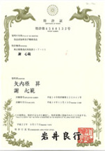 Japan patent of invention