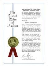 U.S. patent of invention - YHK